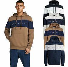 Jack Jones Mens Hoodie Logo Hooded Sweatshirt Pullover Winter Top Sweater S-2XL