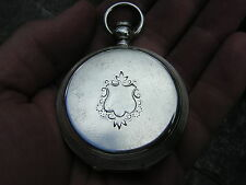 1877 American Watch Co Waltham Sterling Silver Pocket Watch PS Bartlett Hunter