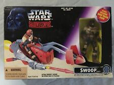 1996 Star Wars Shadows of the Empire Swoop Speeder Bike and Action Figure NIB