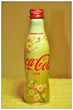 Japan Coke Cocacola 2018 New Year Cherry Blossom Aluminum Bottle Limited Edition