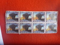 BLOCK OF 8 FINE  USED  1997 NEW ZEALAND SCENERY $10 MT RUAPEHU  STAMPS