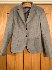 Maxmara Beautiful Grey 100% Wool Blazer Jacket  - Size 10