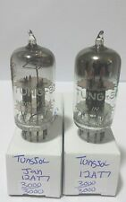 2 Date Matching Tung Sol Jan 12AT7 Vacuum Tubes Tested New On Calibrated Hickok