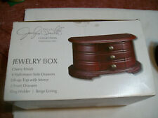 JACLYN SMITH COLLECTION JEWELRY BOX CHERRY FINISH