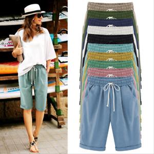 New Women Ladies Loose Shorts Summer Thin Beach Casual Pants Size8-28 E60614