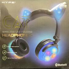 Foldable Wireless Bluetooth Cat Ear Headband LED Lights Earphone Headphones HYPE