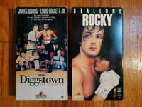 (Lot2) Diggstown 1992 Rocky 1976 VHS ORIGINAL HTF OOP Rare Sports Drama Comedy