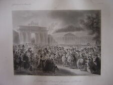 Grande gravure Entrée armée française BERLIN 17 octobre 1806  Napoléon Bonaparte
