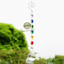 Clear Crystal Ball Suncatcher Prisms Pendant Pendulum Rainbow Wedding Decor Gift