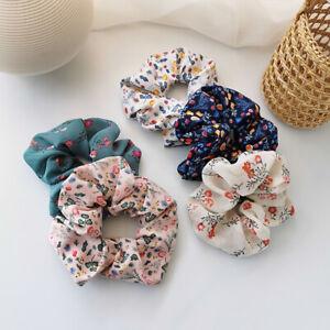 5 PCS Scrunchy Hair Scrunchie Premium Satin Hair Rope Ties Bands For Women Girls
