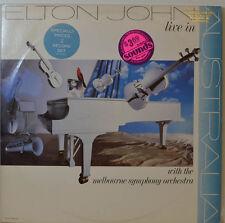 """Elton John - LIVE IN - Melbourne Symphony Orch MCA 2-8022 - 2 x 12 """" LP (Y506)"""