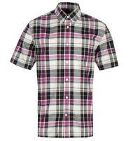 BNWT Fred Perry Black Madras Pink Tartan Short Sleeve Shirt M RRP £75 Check