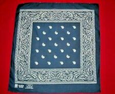 Two Vintage Paris Navy Blue Bandana Handkerchief Cotton Usa Rn13960 Teardrop