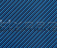 """HYDROGRAPHIC FILM HYDRO DIPPING WATER TRANSFER FILM CARBON FIBER BLUE 38.5""""x 19"""""""