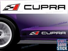 For SEAT CUPRA - 2 x Side Skirt Decals Stickers Adhesive   290 x 28 mm