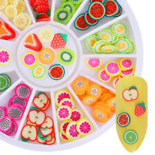 12 Patterns Lovely Fruit Fimo 3D Nail Art Decoration in Wheel Colorful Sparkle