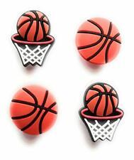 4pcs Basketball and Net Sports Shoe Charms for Crocs Clog Shoes Bracelets Gift