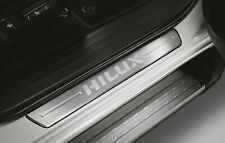 GENUINE TOYOTA HILUX SCUFF PLATE DOOR SILL TRIM LED STAINLESS 4 PCS 2015 - 2020