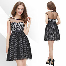 Ever-Pretty Satin Polka Dot Dresses for Women