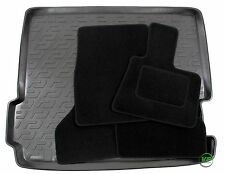 BMW X3 F25 2011-up Tailored black floor car mats + boot tray mat
