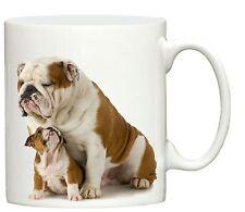 New English Bulldog & puppy design dog print mug printed tea cup dogs gift