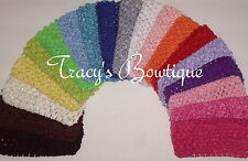 "Pick 100 Crochet 3"" Interchangeable Headbands for Korkers Hair Bows Flower Clips"