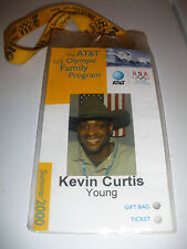 2000 US OLYMPIC FAMILY PROGRAM IDENTITY CARD KEVIN YOUNG USA HURDLE WR RECORD
