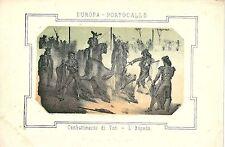1863 COMBATTIMENTO DI TORI L'ESPADA Portugal litogr. Tourada Corrida de Touros