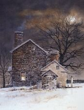 FARM LANDSCAPE ART PRINT - Blue Moon by Ray Hendershot 11x14 Country Poster