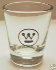 WESTINGHOUSE ELECTRIC LOGO ON A CLEAR SHOT GLASS