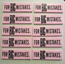 10 NEW LARGE ERASERS FOR GREAT BIG MISTAKES NOVELTY GAG GIFT SCHOOL PARTY FAVORS