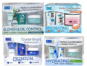 Hada Labo Premium Whitening/Blemish & Oily/Hydrating Moist & Light 123 Trial Set