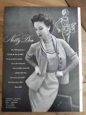 1953 women's Nelly Don seersucker dress suit cotton trim vintage fashion ad