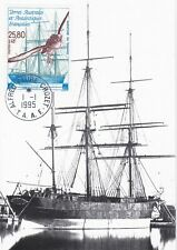 SUPERBE CARTE MAXIMUM TAAF TERRES AUSTRALES  PA 113 BATEAU CLIPPER LE TAMARIS