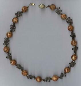 """New 14K 47.3 Gram Solid Yellow Gold 17"""" 12mm Agate & Amethyst Bead Necklace dJ"""