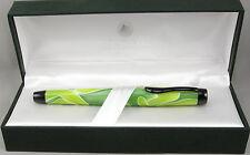 Monteverde Intima Neon Green Swirl Fountain Pen In Box - Stub Nib - New 50% OFF