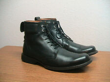 """Mens 10 M Timberland Earth Keepers City 6"""" Black Leather Ankle Boots, RARE"""