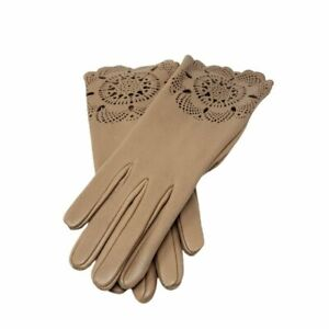 100% Auth Burberry Gloves Leather Gloves Size 7.5 New