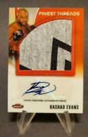 2012 Finest UFC Finest Threads Jumbo Relics Autographs #AFT-RE Rashad Evans