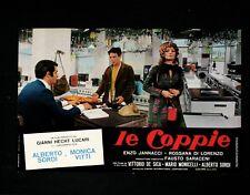 LE COPPIE fotobusta poster Monicelli De Sica Monica Vitti Sordi BR21