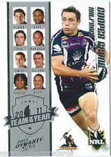 2012 NRL SELECT DYNASTY MELBOURNE STORM COOPER CRONK TY5 TEAM OF THE YEAR CARD
