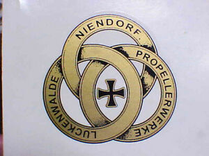 German  Propeller Decal WW1 Aircraft 1914 - 1920s