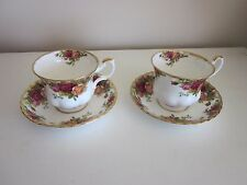 Royal Albert Old Country Roses cups and saucers set of two