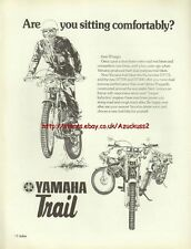 Yamaha Trail Motorcycle 1976 Magazine Advert #3689