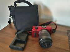 Canon EOS M 18.0MP Digital Camera - Red (Kit w/ STM IS 18-55mm Lens) MINT CON