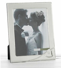 LARGE WEDDING PHOTO FRAME WITH SILVER HEART DESIGN / PICTURE FRAME