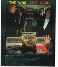 1982 THE WHO It's Hard Album Promo Vtg Print Ad