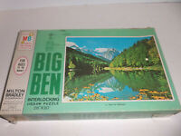 1968 MB Milton Bradley BIG BEN TIME FOR REFLECTION Jigsaw Puzzle COMPLETE 1000pc