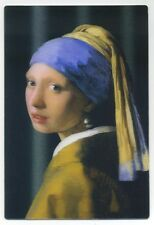 3-D Girl with a Pearl Earring by Jan Vermeer New 3D Lenticular Postcard