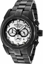 New Mens Invicta 1340 Speedway Chronograph Black Ion-Plated Steel Bracelet Watch